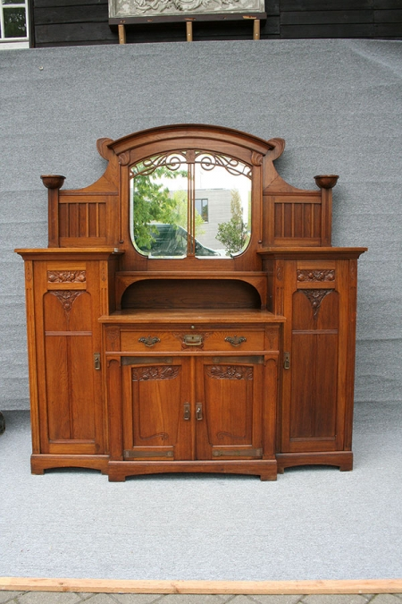 antike anrichte jugendstil antike biedermeier m bel. Black Bedroom Furniture Sets. Home Design Ideas