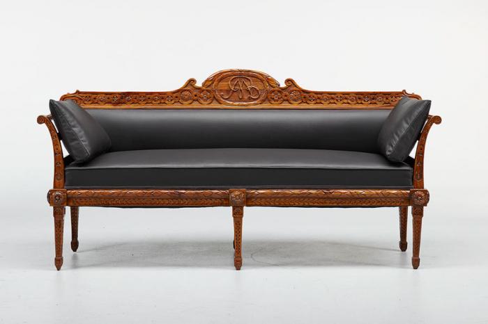 antikes Barock-Sofa, geschnitzt, um 1780