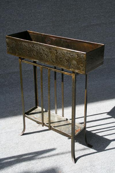 Blumenbank, Metall, um 1920