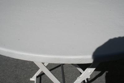antiker Gartentisch, klappbar, Eisen