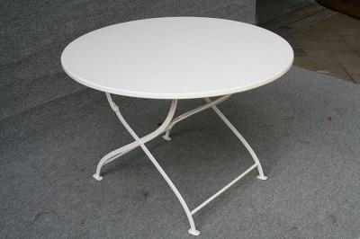 runder antiker Gartentisch, Tischplatte ergänzt