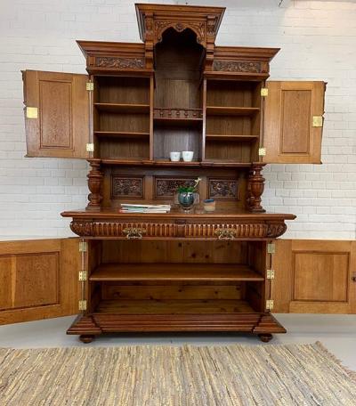 antikes, nachhaltiges Buffet, Gründerzeit, um das Jahr 1880 hergestellt