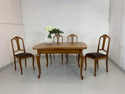 antiker Auszugtisch, Art déco, Eiche