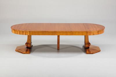 antiker Auszugtisch, Biedermeier, Kirschbaum furniert