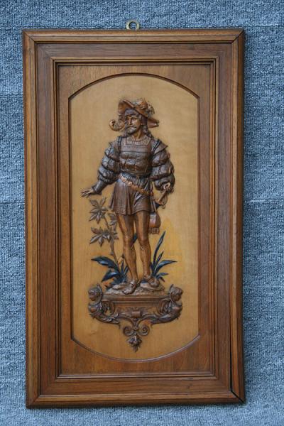 Flachschnitzerei Ritter mit Schwert MAybach