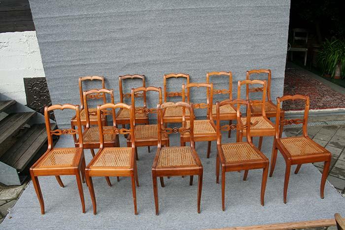 restaurierung satz st hle bidermeier antike biedermeier m bel britsch. Black Bedroom Furniture Sets. Home Design Ideas