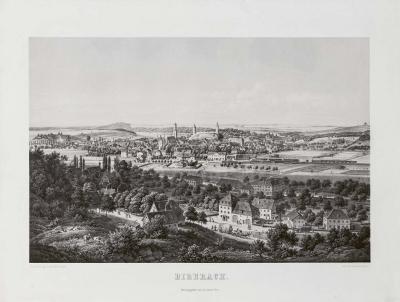 antike Farblithografie Eberhard Emminger