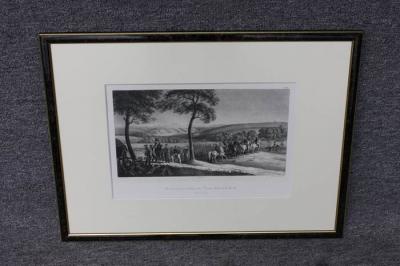 "Lithografie Eberhard Emminger (1808 - 1885), ""Vor Smolensk den 16.August 1812"