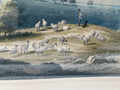 Lithographie, Tuttlingen, Eberhard Emminger, um das Jahr 1860