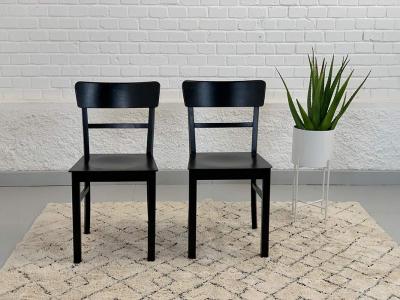 Paar 50er-Jahre-Stühle, Buche massiv
