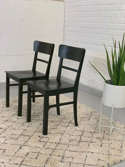 Paar 50er-Jahre-Stühle, um 1950 gefertigt