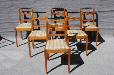Restaurierung Satz Stühle, Birke massiv