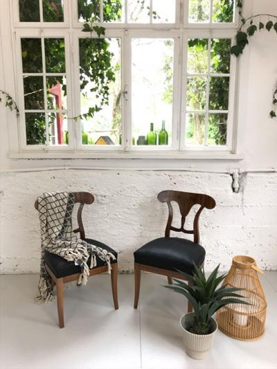 Paar Stühle, Biedermeierstil, um 1900 gefertigt