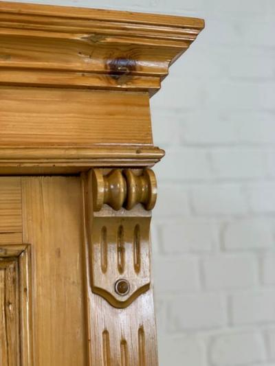 antiker Schrank, Fichte massiv, Gründerzeit, um das Jahr 1880 hergestellt