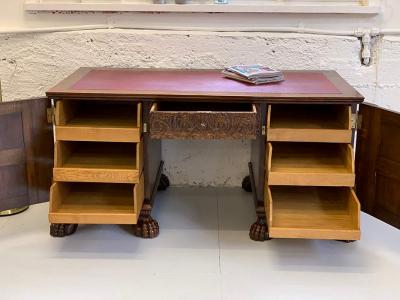 antiker Schreibtisch, Renaissance-Stil, um das Jahr 1910 gefertigt