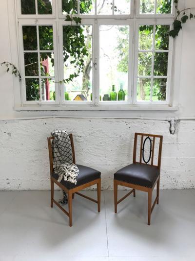 Stühle, Art déco, Kirschbaum, um 1920 gefertigt