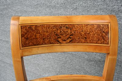 antike Stühle, Biedermeier, Birke massiv
