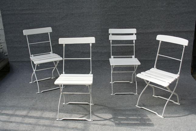 Antike Gartenstühle in verschiedenen Ausführungen, um 1910