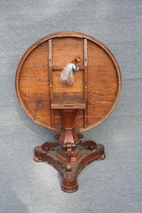 Biedermeier Salontisch, abklappbar