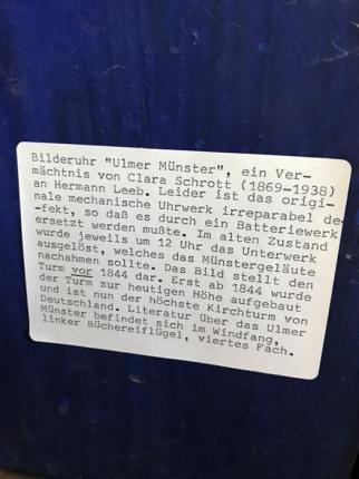 Bilderuhr, Ulmer Münster