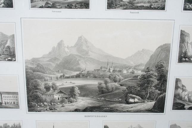 """Lithografie """"Berchtesgaden…"""""""