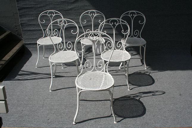 Seltener Satz antiker Gartenstühle, England um 1860