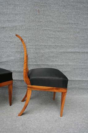 Stuhl aus einem Satz Biedermeierstühle, um 1820