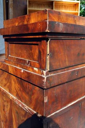 Restaurierung Schreibtisch Mahagoni