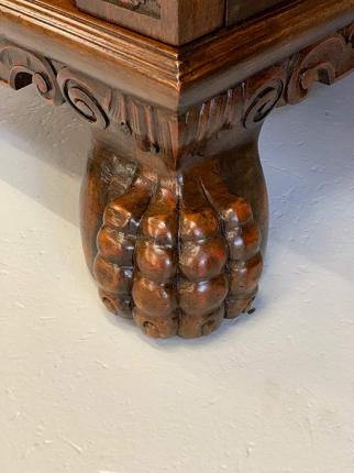 antiker Schreibtisch, Renaissance-Stil, Löwentatzen-Füße
