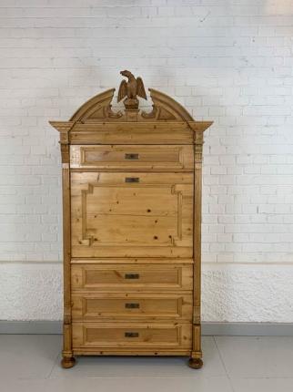 Sekretär, Fichte, Gründerzeit, um das Jahr 1880 gefertigt