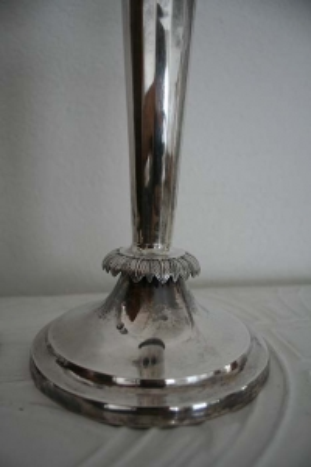 antike Silberleuchter, Biedermeier