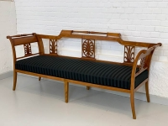 antikes Sofa, Biedermeier, Buche gebeizt