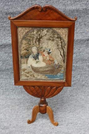 Tischparavent, Biedermeier, um 1820 gefertigt