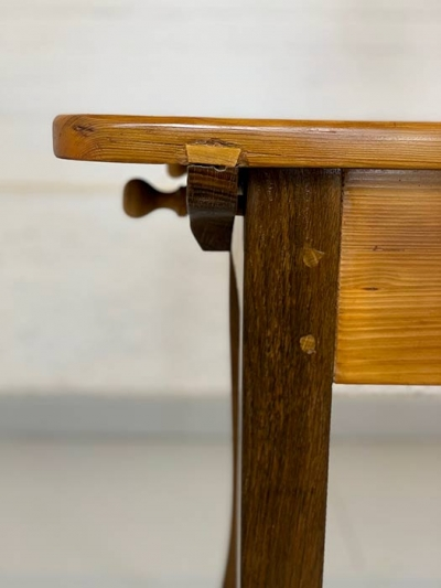 Wirtshaustisch, Fichte, Eiche, Biedermeier, um das Jahr 8140 gefertigt