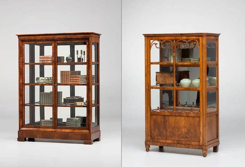 antike biedermeiervitrinen und b cherschr nke antike. Black Bedroom Furniture Sets. Home Design Ideas