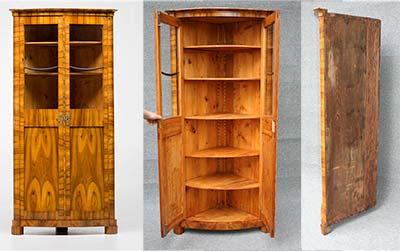 etageren und eckschr nke antike biedermeier m bel britsch. Black Bedroom Furniture Sets. Home Design Ideas